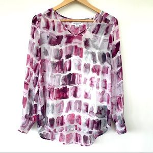 Liz Claiborne print top with attached camisole